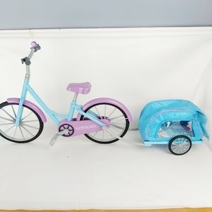 Bicycle for doll and cart for plush